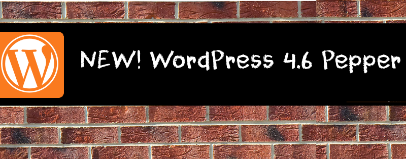 New WordPress 4.6 Pepper