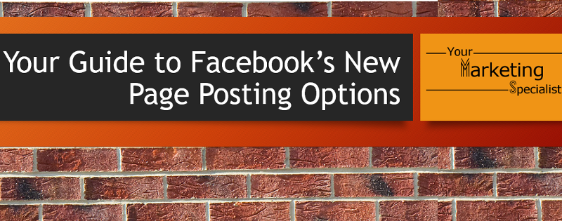 Facebook page posting options