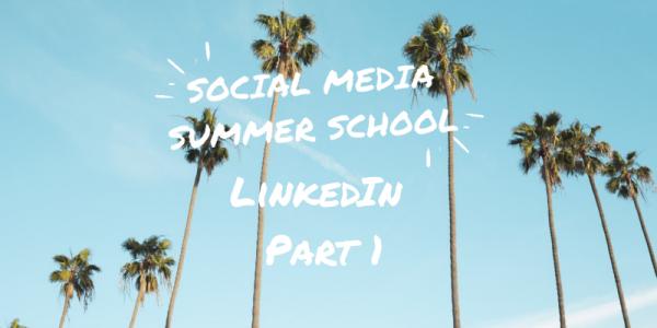 Social Media Summer School LinkedIn workshop part 1