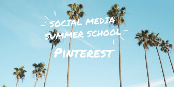 Social Media Summer School Pinterest workshop